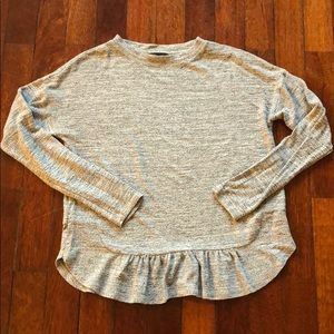 Banana Republic Gray Long Sleeve Blouse